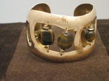 Large Bronze Cuff (tiger's eye)