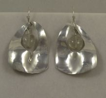 Silver Squared Ovals (clear)