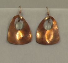 Copper Squared Ovals (moonstone)