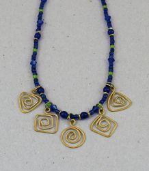 Bronze 5-Spiral (blue)