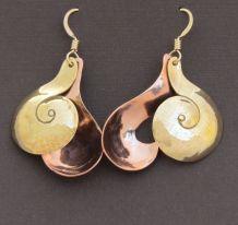 Copper / Bronze Solid Curlicues