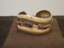 Bronze Cuff (garnet/amethyst)