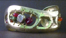 Bronze Cuff (rhyolite/red agate)