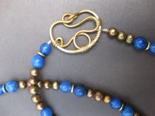 Bronze Squiggle Loop (blue)