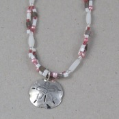 Silver Sand Dollar (pink/grey)