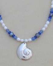 Silver Shell (blue/white)