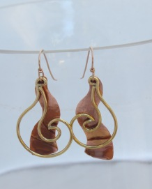 Copper / Brass Solid Squiggle