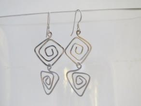 Silver Double Spirals