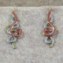 Brass / Silver / Copper Squiggles