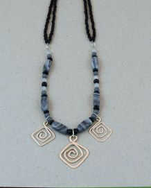 Silver 3-Spiral (black/grey)