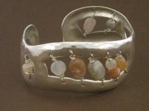 Silver Cuff (moonstone)
