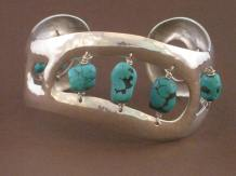 Silver Cuff (turquoise)